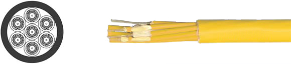 Fiber Optic Breakout-Cable, Hi-Tech Controls, , RoHS Approved, RoHS Compliant