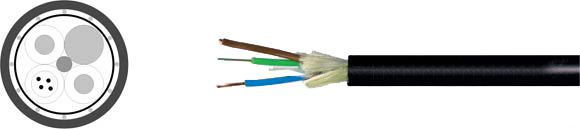 Fiber Optic Outdoor Cable Hybrid, Hi-Tech Controls, , RoHS Approved, RoHS Compliant