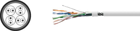 LAN Cable, 100 FTP flex, Hi-Tech Controls, , RoHS Approved, RoHS Compliant