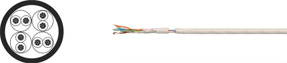 LAN Cable, 100 UTP flex, Hi-Tech Controls, , RoHS Approved, RoHS Compliant