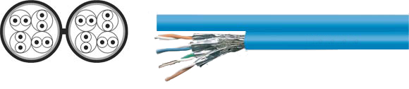 LAN Cable, 1200 S-STP duplex, Hi-Tech Controls, , RoHS Approved, RoHS Compliant
