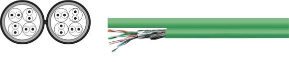 LAN Cable, 200 S-FTP duplex, Hi-Tech Controls, , RoHS Approved, RoHS Compliant