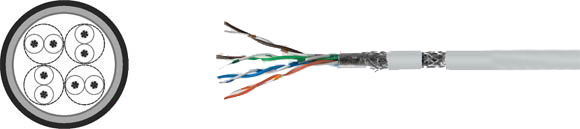 LAN Cable, 200 S-FTP flex, Hi-Tech Controls, , RoHS Approved, RoHS Compliant