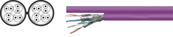 LAN Cable, 900 S-STP duplex, Hi-Tech Controls, , RoHS Approved, RoHS Compliant