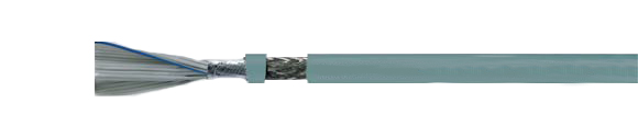 TUBEFLEX-(St)-CY Round shaped flat ribbon cable, shielded, for IDC-technique, pitch 1.27 mm, EMI preferred type, RoHS Approved, RoHS Compliant, Hi-Tech Controls,