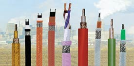 Thermal Resistant, Compensating Cables, High or low temperatures, heat and cold influences, permanent temperature changes demand cable types with special conductor and jacket insulation depending on the different applications. European supply these indispensable special cables which are used in power stations, iron works, steel-works and rolling mill, in foundries, cement, glass and construction and shipbuilding, in brickworks, kitchen appliances, measuring and heat appliances as well as in many other areas.
