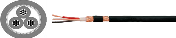 Audio Cables, Audio Cables, Multiconductor, with Braided Shielding, 2x0.26, RoHS Approved, RoHS Compliant, Hi-Tech Controls, European