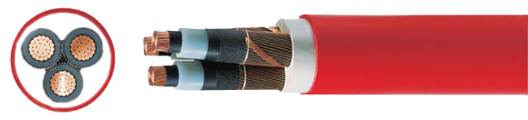 N2XSEY 3 x ... 6/10 kV, XLPE insulated, Copper conductor, PVC jacket, RoHS compliant, Medium Voltage Power Cables, Power Cables up to 30 kV, Hi-Tech Controls, European