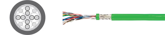 TOPGEBER 504/511, low capacitance (approx. 70 nF/km), flexible feedback cable, low capacitance (approx. 40 nF/km), PVC , RoHS Approved, RoHS Compliant, European  , Hi-Tech Controls