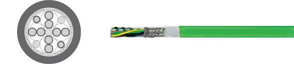TOPGEBER 510, PUR, high flexible drag chain feedback cable, RoHS Approved, RoHS Compliant, European  , Hi-Tech Controls