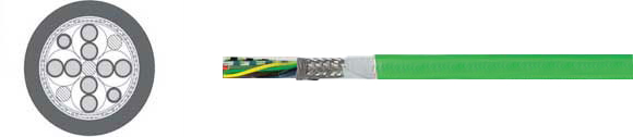 TOPGEBER 512, PUR, high flexible drag chain feedback cable, low capacitance (ca. 70 nF/km), RoHS Approved, RoHS Compliant, European  , Hi-Tech Controls