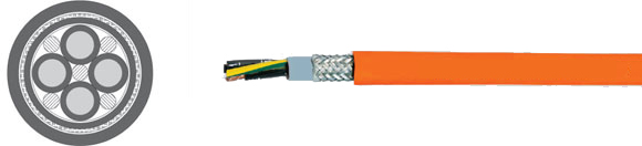 TOPSERV� 103 halogen-free, jacket PUR, UL/CSA, Highly flexible, drag chain cable 0,6/1 kV, EMI preferred type, European  , Hi-Tech Controls