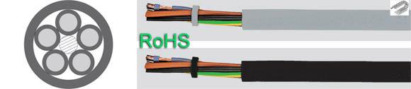 Sensorflex-H, sensor actuator cables, halogen-free, high flexible drag chain feedback cable, PUR, EVA +125°C, RoHS Approved, RoHS Compliant, European  , Hi-Tech Controls