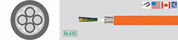 TOPSERV 150, TOPSERV 151, PUR Jacket, UL/CSA, Highly Flexible Drag Chain Cable 0,6/1 kV, Low Capacitance, Halogen-Free, EMC (EMI Preferred Type), European  , Hi-Tech Controls