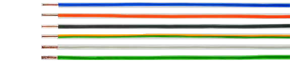 SiF / SiFF silicone single conductors, halogen-free, RoHS Compliant, RoHS Approved, Hi-Tech Controls, European  , Heat Resistant / Compensating Cables