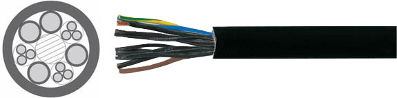 Special Cables, BAULIFTKABEL B101 / B102 / B103 Used for power supply and control of elevators in the construction industry, Hi-Tech Controls, European