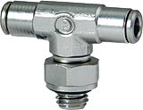 6432 - Micro Fitting - Male Branch Tee Swivel