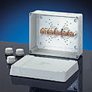 "K 9355 - Polystyrene Indoor Enclosures w/ Metric Knockouts & Terminals W 10.24"" (260 mm) x H 8.27"" (210 mm) x D 4.57"" (116 mm)"