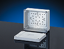 "K 8060, Liquid Tight Polystyrene Enclosures (Indoor Installations): Smooth Wall (No Knock-Outs) Dimensions: (W) 5.5""(139) x (H) 4.7""(119) x (D) 2.8""(70), without Terminal Blocks, IP 65"
