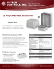 UL Polycarbonate Enclosures